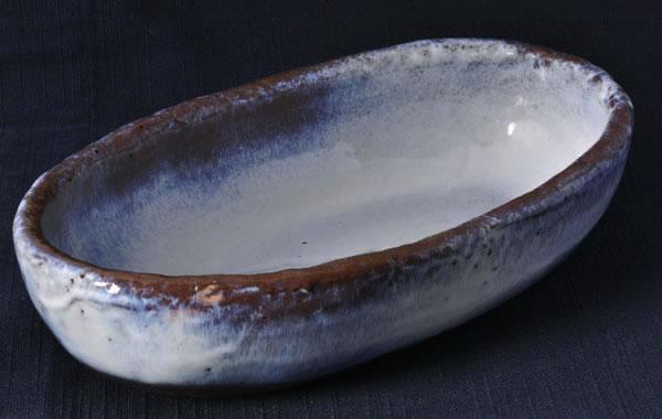 【楕円皿】薄紫雲 (大)
