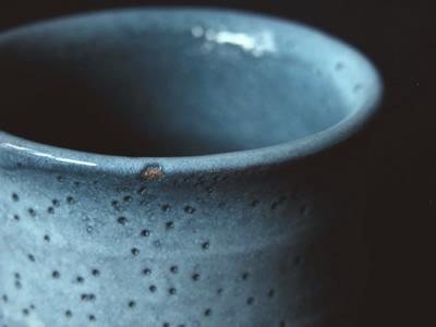 【湯のみ】虫喰釉湯のみ