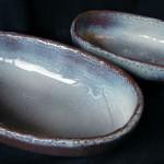 【楕円皿】薄紫雲