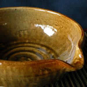 【片口鉢】光沢茶