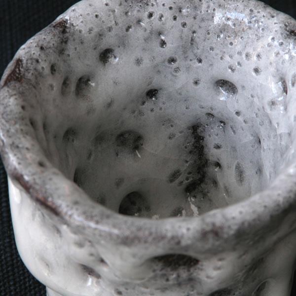 ぐい呑み 白釉 陶芸作品画像