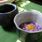 『もずく酢』と『イカの塩辛』【ぐい呑み】水色 料理とぐい呑み(8)