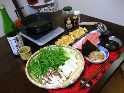 手作り揚げさんと豚の常夜鍋