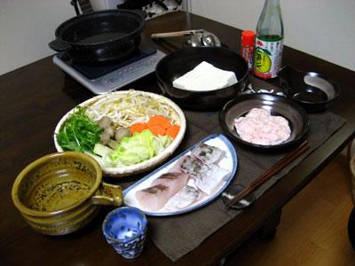 真鱈の白子鍋