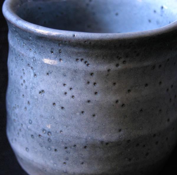 【湯のみ】虫喰釉湯のみ(だるま)