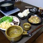 『揚げ餅のみぞれ鍋 』 【酒器】釉の酒器 料理とぐい呑み(13)