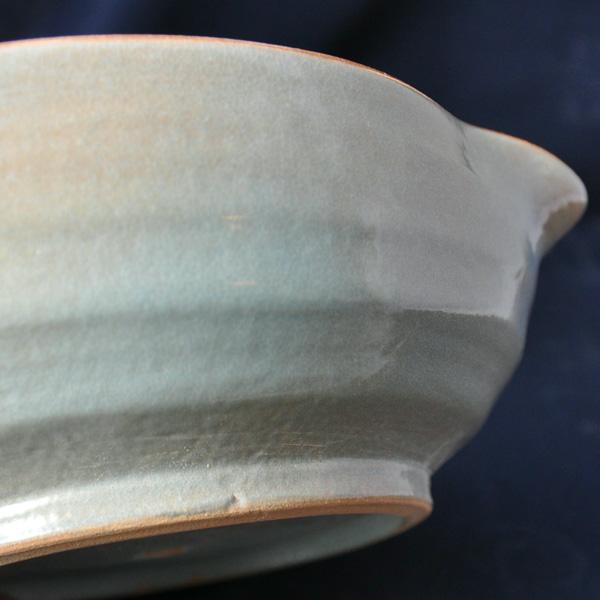 片口鉢】啓蔵片口鉢と小皿 乳濁青