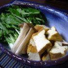 『鯨のハリハリ鍋』 【楕円鉢】薄紫雲  料理で使う啓蔵作品