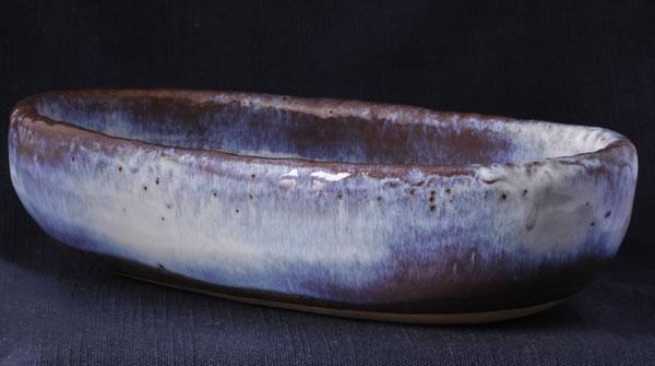 楕円鉢 薄紫雲 (大)