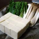 『みず菜とエリンギの湯豆腐/胡瓜とみょうがのタコ酢』 【片口鉢】心の葉 料理で使う啓蔵作品