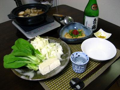 「豚の角煮鍋」・「筍ともやしのポン酢炒め」