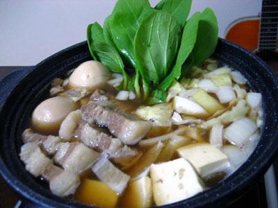 「豚の角煮鍋」