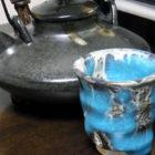 【ぐい呑み】水青流【楕円鉢】楕円小皿「鯛と貝柱のしゃぶしゃぶ鍋」 料理とぐい呑み(52)