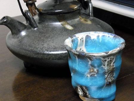 【ぐい呑み】水青流【楕円鉢】楕円小皿「鯛と貝柱のしゃぶしゃぶ鍋」 料理とぐい呑み(47)