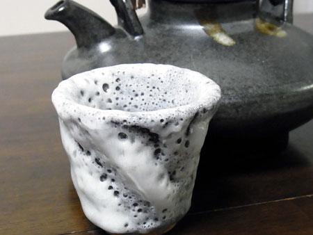 【ぐい呑み】白釉  料理とぐい呑み