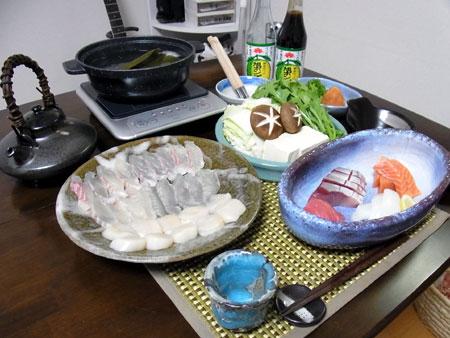 鯛と貝柱のしゃぶしゃぶ鍋
