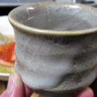 塩鮭とイクラの親子か焼きみぞれ鍋【ぐい呑み】白乳濁 料理とぐい呑み(57)