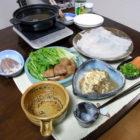 『烏賊のしゃぶしゃぶ』 料理とぐい呑み(61)