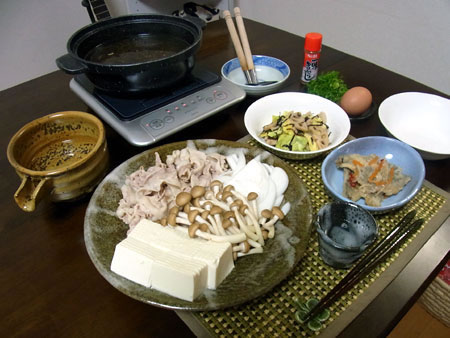 『豚の肉吸い鍋 』 料理とぐい呑み(66)