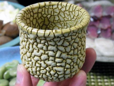 鰹と貝柱のすき鍋 ぐいのみ