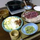 『鰹と貝柱のすき鍋』 料理とぐい呑み(65)