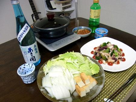 「サバ缶と白菜のニンニク味噌鍋」