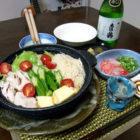「冷やし鍋はじめました!」 料理とぐい呑み(74)
