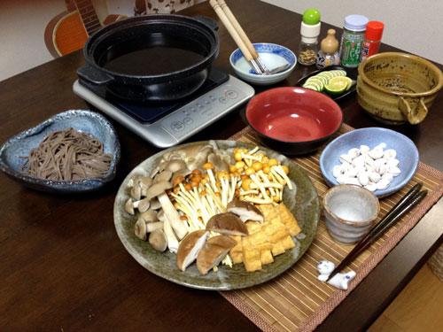 『きのこ鍋』 料理とぐい呑み(77)