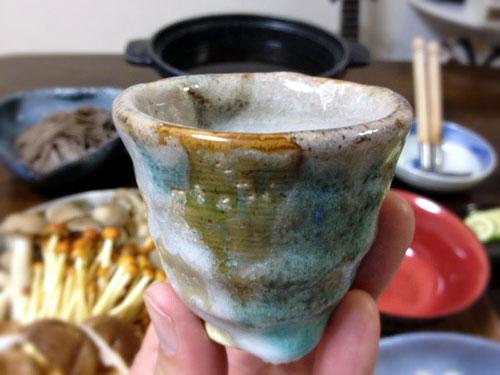 『きのこ鍋』 料理とぐい呑み(77) ぐい呑み