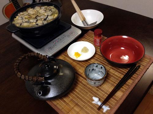 牡蠣のあんかけ鍋焼きうどん