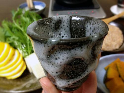 『鶏つくねの柚子鍋 』 料理とぐい呑み(82)