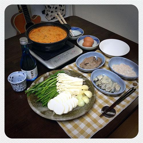 『男の本気出汁鍋 』 料理とぐい呑み(84)