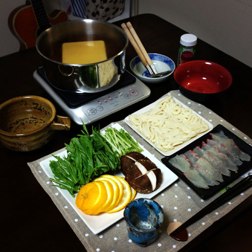 無題『柚子鍋 』 料理とぐい呑み(88)