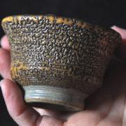 ぐい呑み 豊土華2 渋みのある陶芸作品