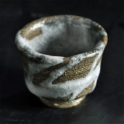 ぐい呑み 紬紋釉 世界にひとつしかない陶芸作品