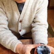 【啓蔵の近況】2014年2月 啓蔵お気に入りの作品 ぐい呑み「啓蔵虫食い」