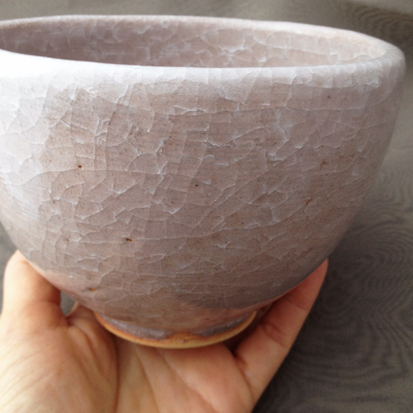 抹茶茶碗 (桜貫入)
